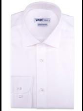 XOOS Men's white Twill cotton dress shirt (Double Twisted)