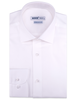 XOOS Men's white Twill cotton dress shirt (Double Twisted)