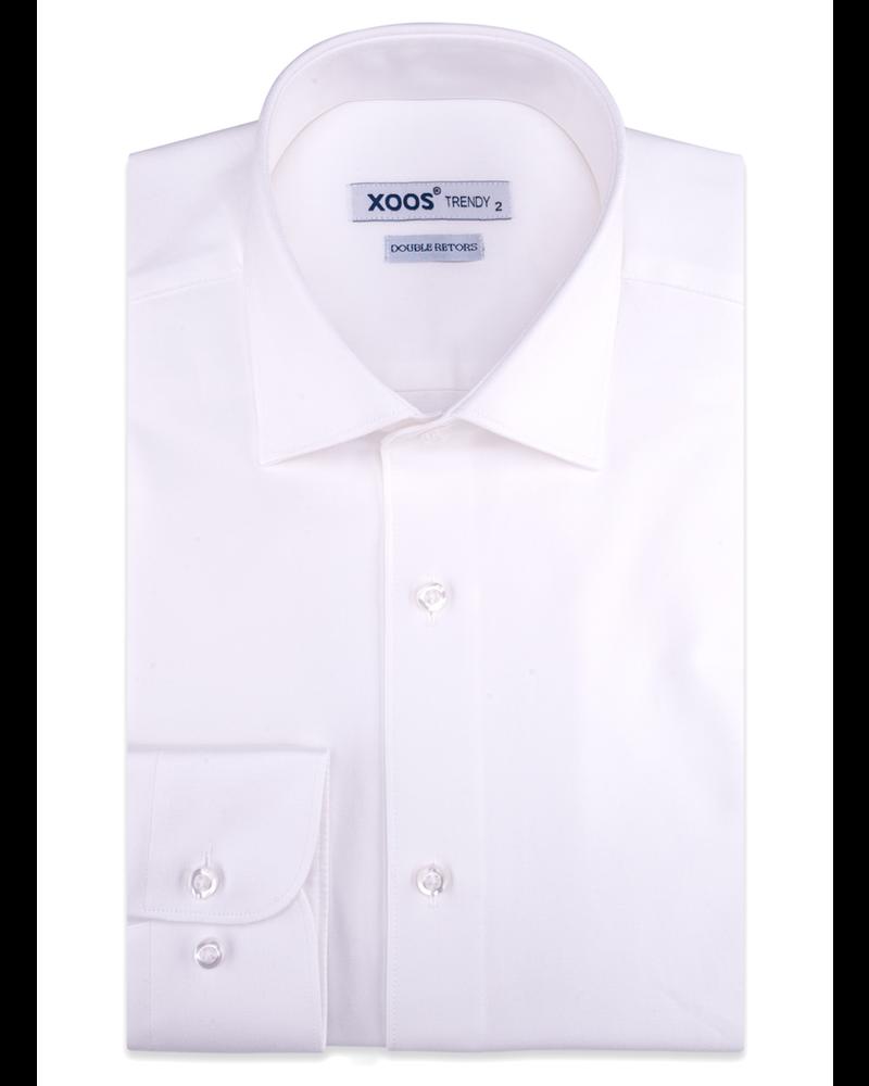 XOOS Chemise homme en gabardine blanche (Double Retors)