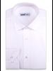 XOOS Men's white geometrical woven patterns cotton dress shirt