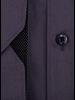 XOOS Men's charcoal gray dress shirt black micro dots lining