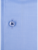 XOOS Men's light blue Twill cotton dress shirt Full Spread collar and floral lining (Double Twisted)