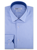 XOOS Men's blue herringbone patterns dress shirt navy micro dots lining (Double Twisted)