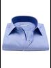 XOOS Chemise homme bleue à motifs en chevrons tissés (Double Retors)