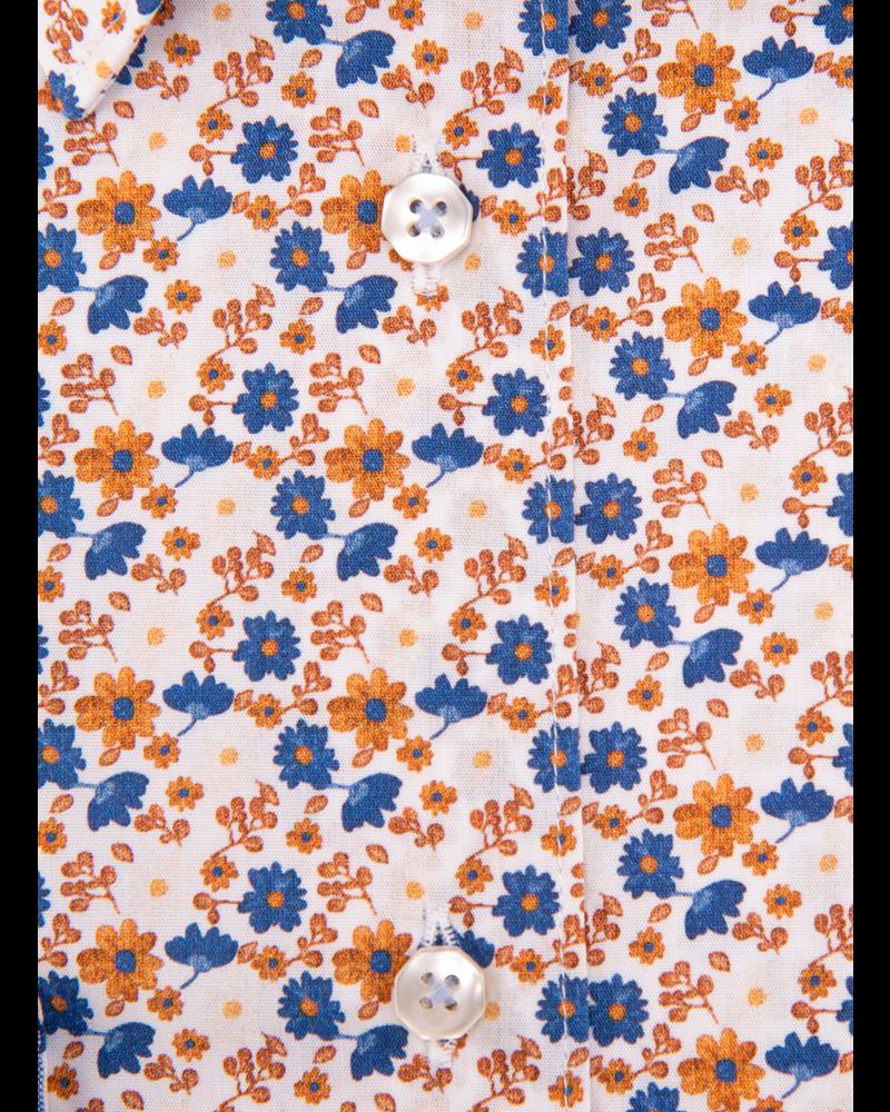 XOOS Chemisier femme à motif imprimé floral orange