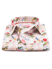 XOOS WOMEN'S pink floral printed dress shirt