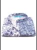 XOOS Chemisier femme à col mao et imprimé floral marine (Coupe confort)