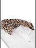 XOOS WOMEN'S white dress shirt and Leopard collar