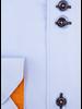XOOS Chemise homme ciel à double boutonnage doublure florale orange