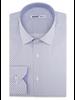 XOOS Chemise homme blanche à imprimé bleu ciel doublure chambray