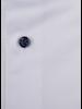 XOOS Chemise homme blanche boutons et doublure à micro pois marine (Double Retors)