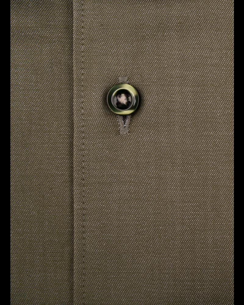 XOOS Chemise homme vert olive doublure à motifs imprimés (Double Retors)