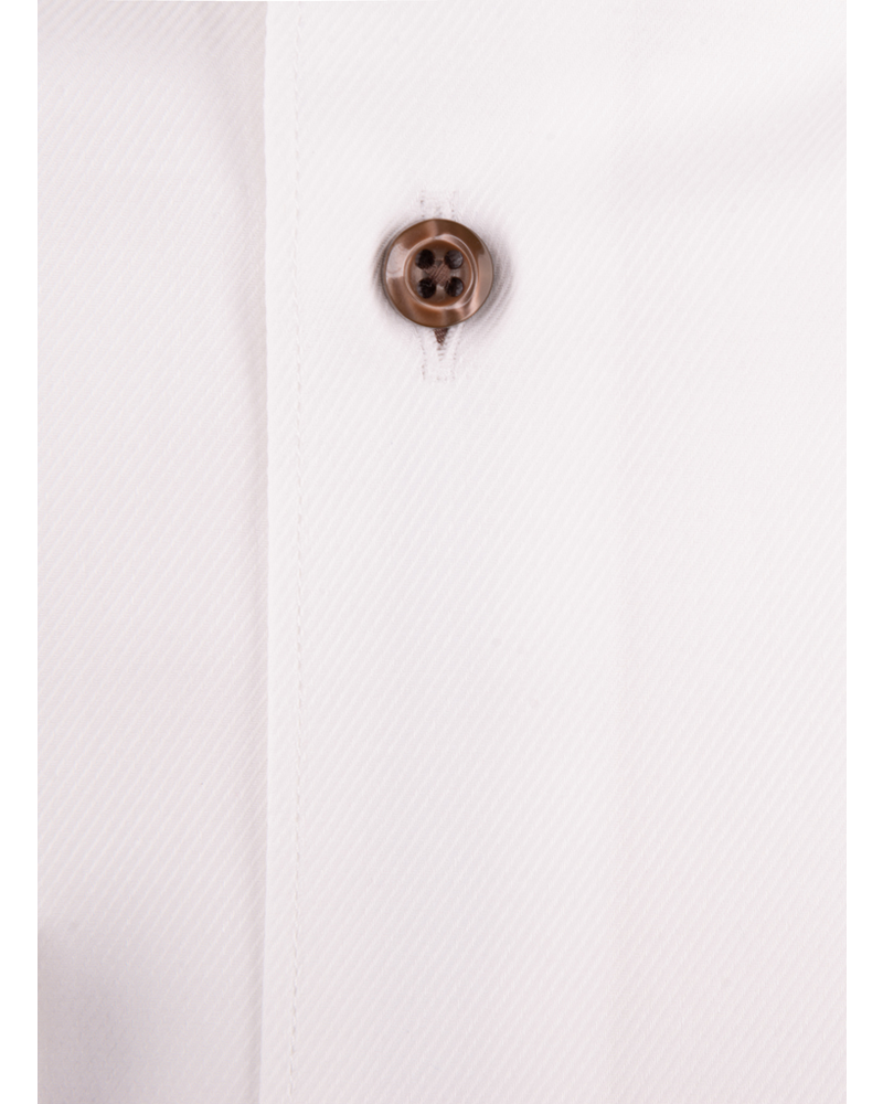 XOOS Men's white twill dress shirt and tartan lining (Double Twisted)