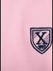 XOOS Pink short sleeve polo shirt for men navy printed lining