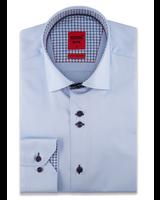 XOOS Chemise homme ciel à double boutonnage doublure à motifs bleu et marine