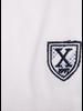 XOOS White short sleeve polo shirt for men - Light blue printed lining