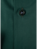 XOOS Men's bottle green dress shirt navy jacquard lining (Organic cotton)