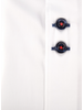 XOOS Men's white short sleeve shirt lightblue patterned lining