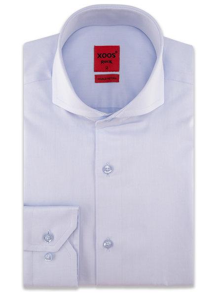 XOOS Men's light blue Full Spread collar dress shirt (Double Twisted)