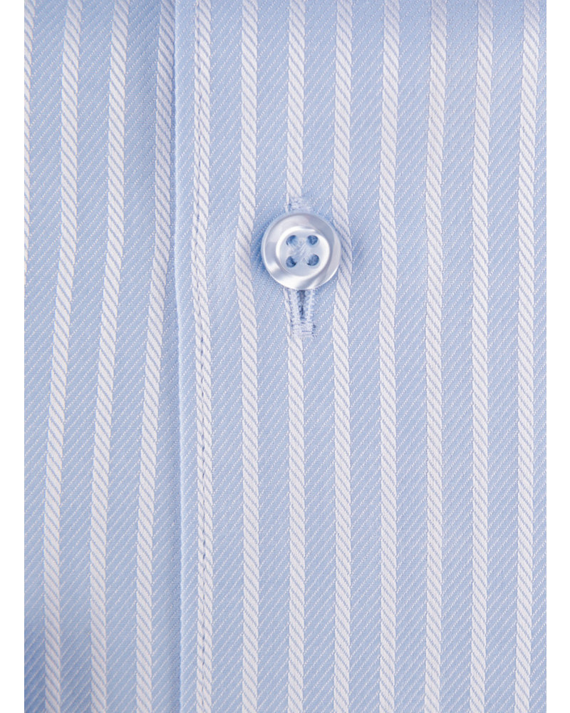 XOOS Men's light blue striped dress shirt (Double Twisted)