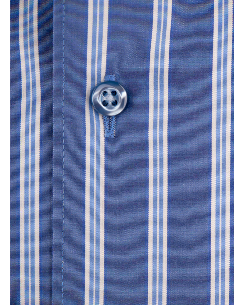 XOOS Men's blue dress shirt and light blue strips (Double Twisted)