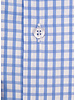 XOOS Men's light blue checkered CLASSIC-FIT dress shirt (Double Twisted)