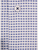 XOOS Men's navy blue checkered dress shirt navy lining (Double Twisted)