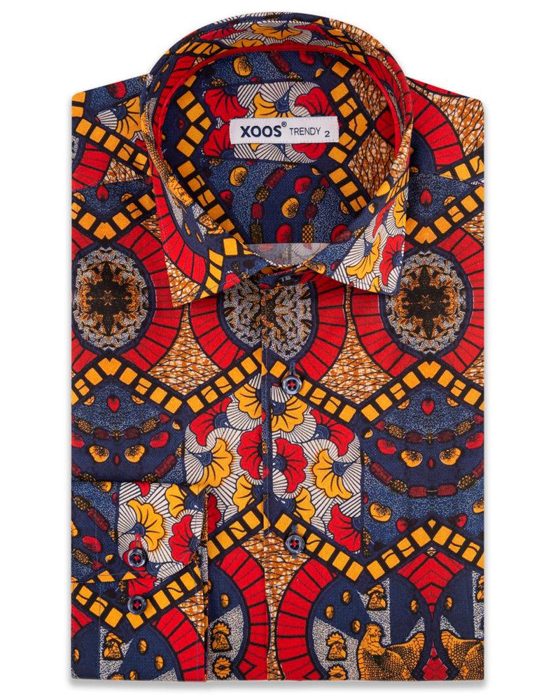 XOOS Men's African Wax prints dress shirt