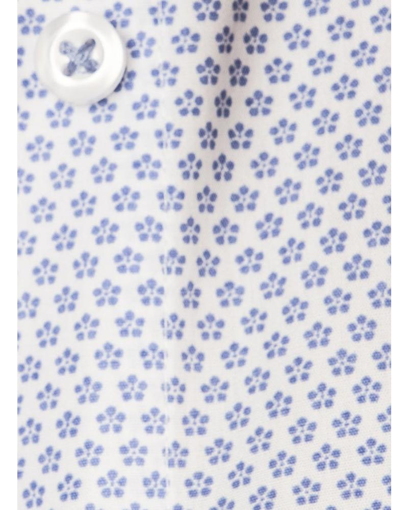 XOOS WOMEN blue floral printed patterned shirt
