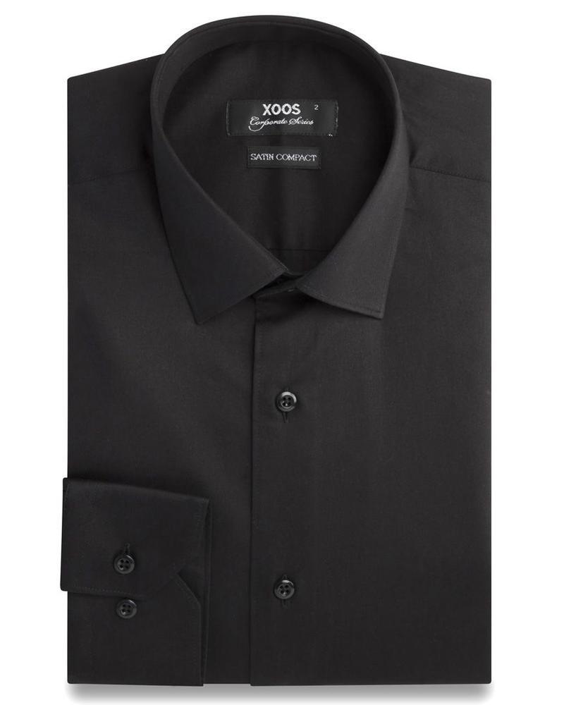XOOS Men's black dress shirt