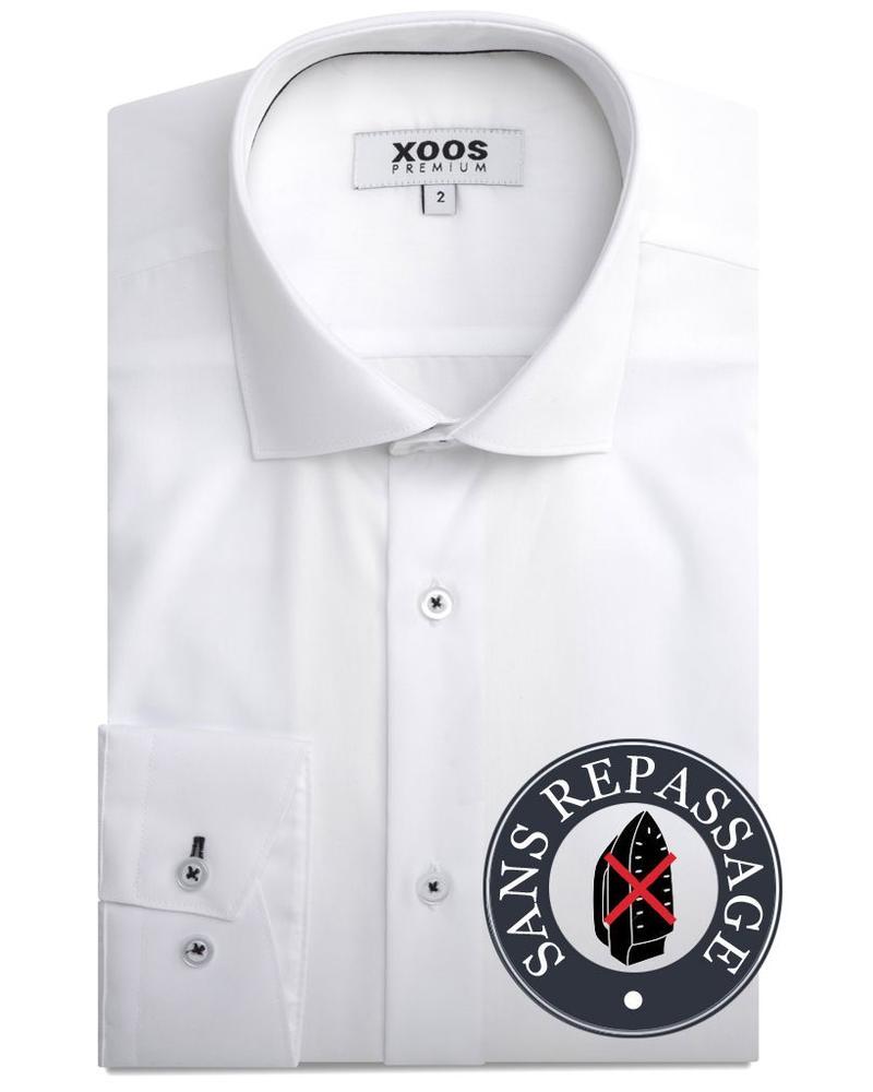 XOOS Chemise homme blanche cintrée (Sans repassage)
