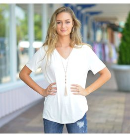 Tops 66 V Neck Short Sleeve Piko Top