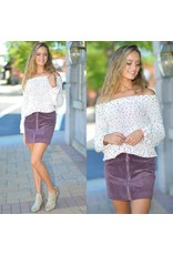 Skirts 62 Riley Remedy Dusty Purple Corduroy Front Zipper Skirt