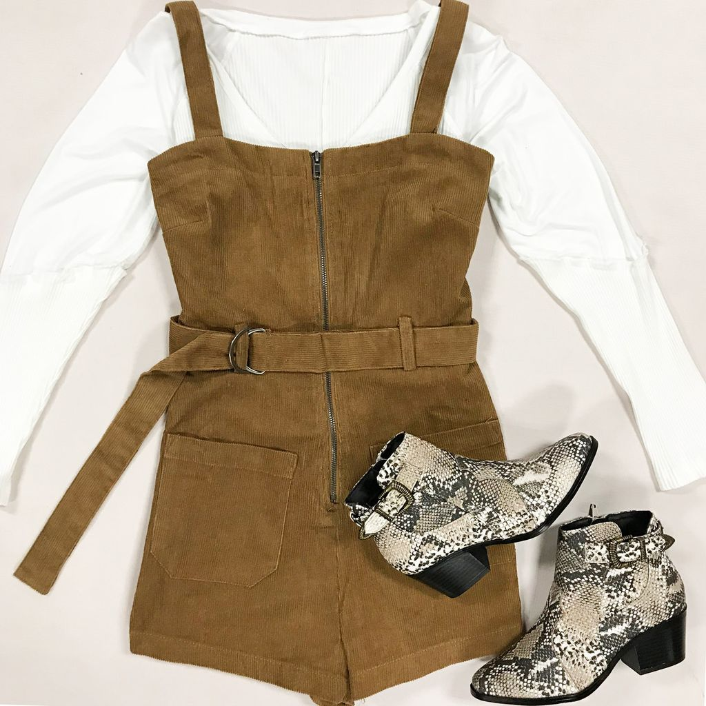 Rompers 48 Fall With Me Camel Corduroy Overalls