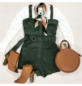 Rompers 48 Fall WIth Me Dk Olive Corduroy Overalls
