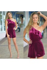 Rompers 48 So Divine in Wine Velvet Romper