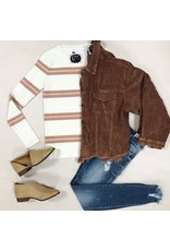 Outerwear Call It A Day Chocolate Corduroy Jacket
