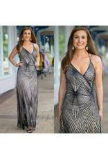 Formalwear Diamond Glitter Formal Dress