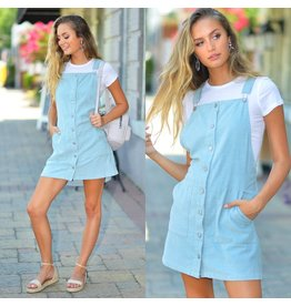 Dresses 22 Catch The Vibe Corduroy Overall Dress