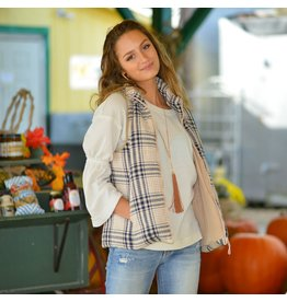 Tops 66 Plaids For Fall Beige Vest