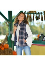 Outerwear Plaids For Fall Navy Vest