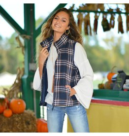 Tops 66 Plaids For Fall Navy Vest