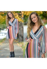 Dresses 22 Wrap Into Fall Stripe Dress