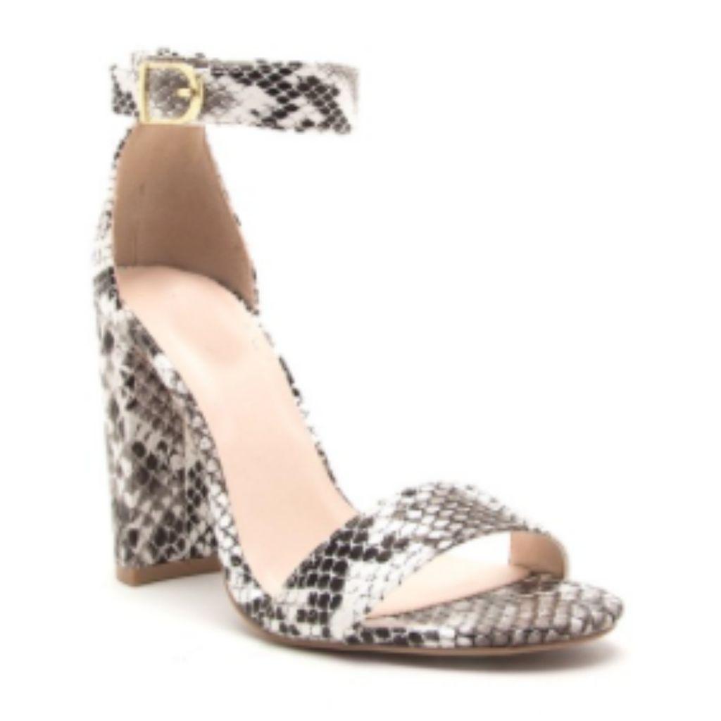 Shoes 54 Escape Snake Print Heels