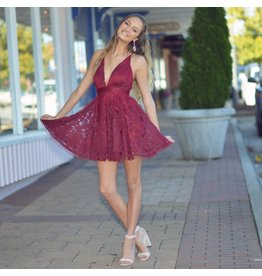 Dresses 22 Tulle Occasion Burgundy Formal Dress