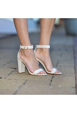 Shoes 54 Living In The Moment Nude Block Heel