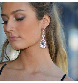 Jewelry 34 Three Teardrop Crystal Earrings