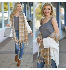 Accessories 10 Oversized Soft Check Oblong Scarf