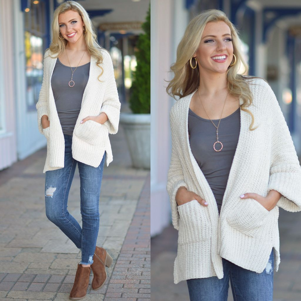 Tops 66 Cool Girl Chenille Cardigan