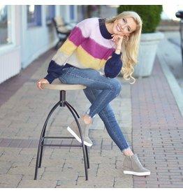 Tops 66 Make It Cozy Stripe Sweater